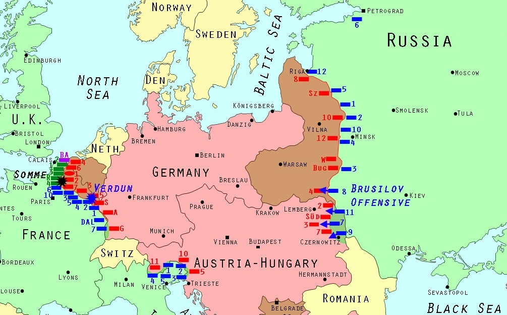 June 4 -September, 1916 The Brusilov Offensive on the ... June Brusilov Offensive Map on battle of the frontiers map, battle of lorraine map, treaty of versailles map, battle of caporetto map, battle of passchendaele map, russian empire map, battle of belleau wood map, battle of vimy ridge map, battle of gallipoli map, battle of neuve chapelle map, franco-prussian war map, finnish civil war map, russian civil war map, eastern front map, gallipoli campaign map, battle of the somme map, second battle of the marne map, arab revolt map, battle of cer map,